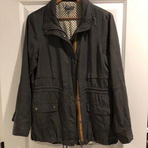 Olive green utility/anorak jacket